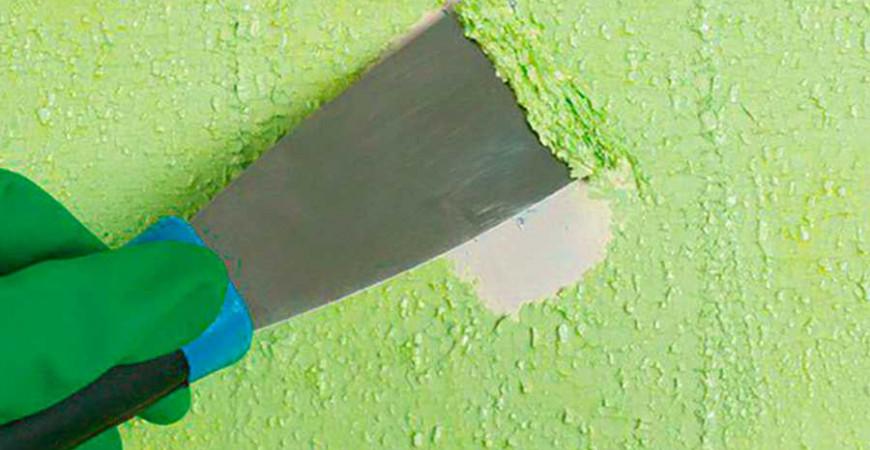 Как избавиться от старой краски на стенах?